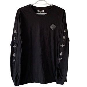 Hurley Black Long Sleeve Graphic T-Shirt